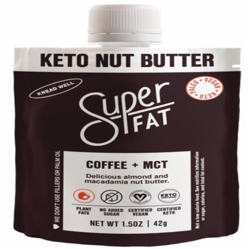 SuperFat Coffee + MCT Keto Nut Butter Perspective: front