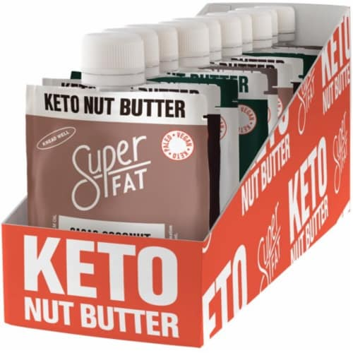 SuperFat Nut Butter Variety Box Perspective: front