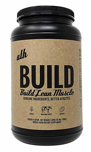 ATH Organics  Build Muscle Powder   Cocoa Perspective: front