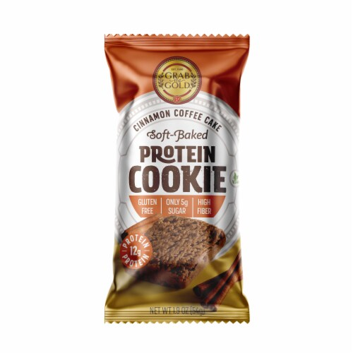 Grab the Gold Cinnamon Coffee Cake Protein Cookie Perspective: front