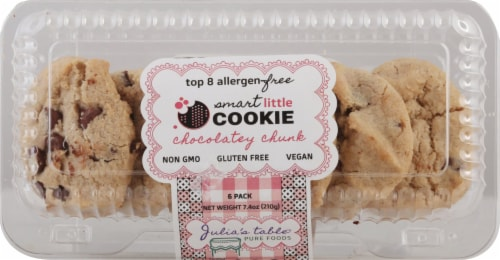 Julia's Table Gluten Free Chocolatey Chunk Smart Little Cookie 6 Count Perspective: front