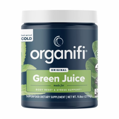Organifi Original Green Juice Superfood Dietary Supplement Perspective: front