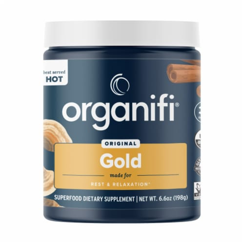 Organifi Original Gold Superfood Dietary Supplement Perspective: front