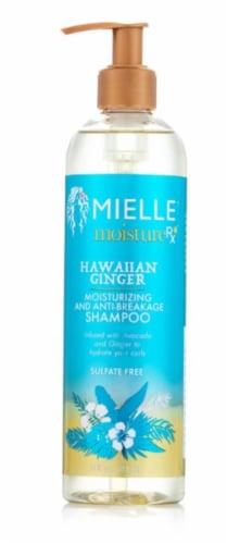 Mielle Organics Moisture RX Hawaiian Ginger Moisturizing and Anti-Breakage Shampoo Perspective: front