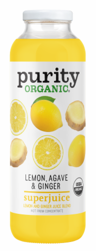 Purity.Organic Lemon Agave & Ginger Superjuice Perspective: front