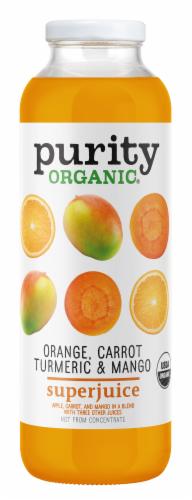 Purity.Organic Orange Carrot Turmeric & Mango Superjuice Perspective: front