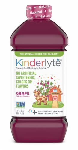 Knderlyte Natural Grape Flavored Oral Electrolyte Solution Perspective: front