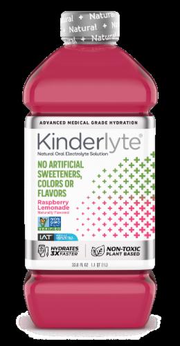 Kinderlyte Advanced Natural Raspberry Lemonade Electrolyte Solution Perspective: front