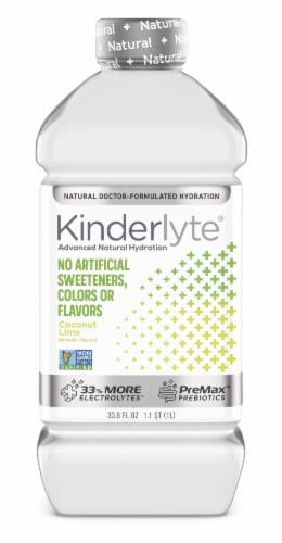 Kinderlyte Advanced Natural Hydration Coconut Lime Electrolyte Solution Perspective: front