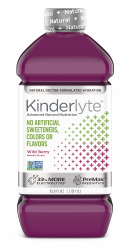 Kinderlyte Advanced Natural Wild Berry Electrolyte Solution Perspective: front