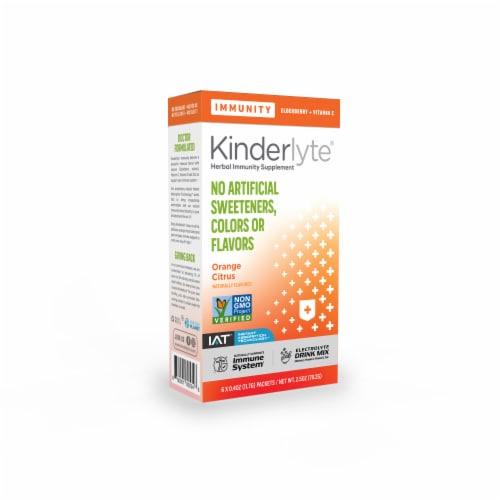 Kinderlyte® Orange Citrus Immunity Herbal Supplement Perspective: front