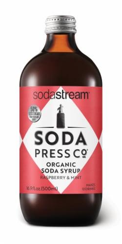 SodaStream Soda Press Raspberry & Mint Organic Soda Syrup Perspective: front