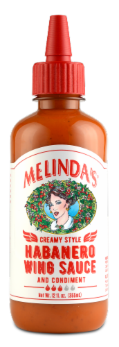 Melinda's Creamy Style Habanero Wing Sauce Perspective: front