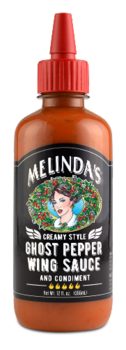 Melinda's Creamy Style Ghost Pepper Wing Sauce Perspective: front