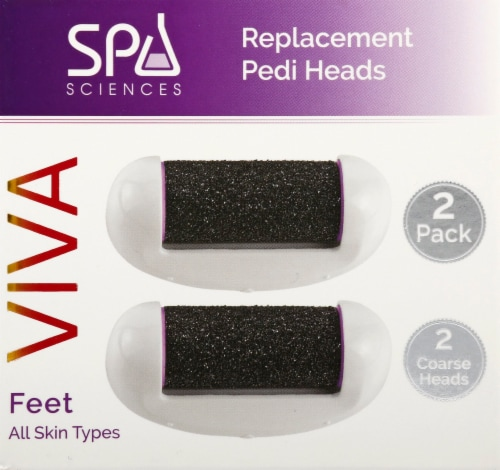 Spa Sciences Viva Replacement Pedi Heads 2 Pack Perspective: front