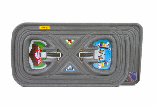 Simplay3 Grab N Go Road to Rail Table Playset Perspective: front