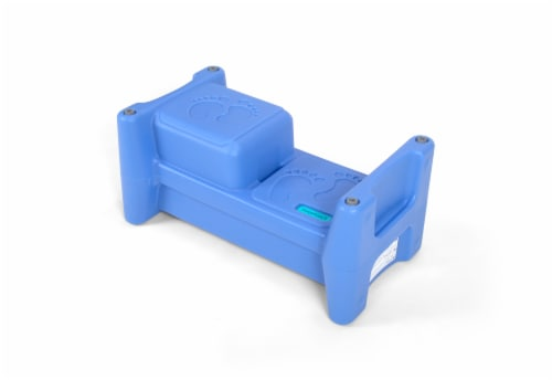 Simplay3 Step Stool and Seat - Blue Perspective: front