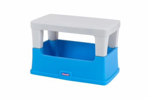 Simplay3 Play Around Storage Table - Blue/Gray Perspective: front