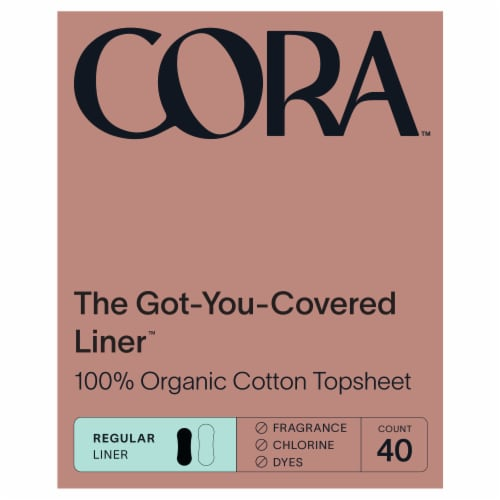 Cora Organic Cotton Ultra Thin Liners Perspective: front
