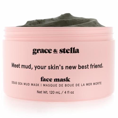 grace & stella Dead Sea Mud Mask (120 mL) Perspective: front
