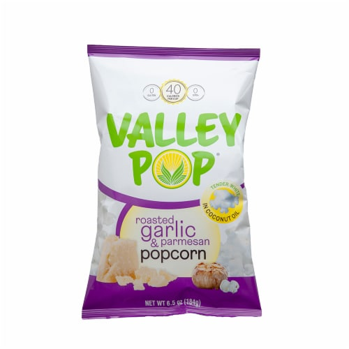 Valley Popcorn - Roasted Garlic & Parmesan Perspective: front