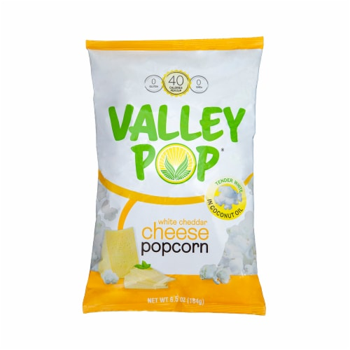 Valley Popcorn White Cheddar Cheese Popcorn Perspective: front