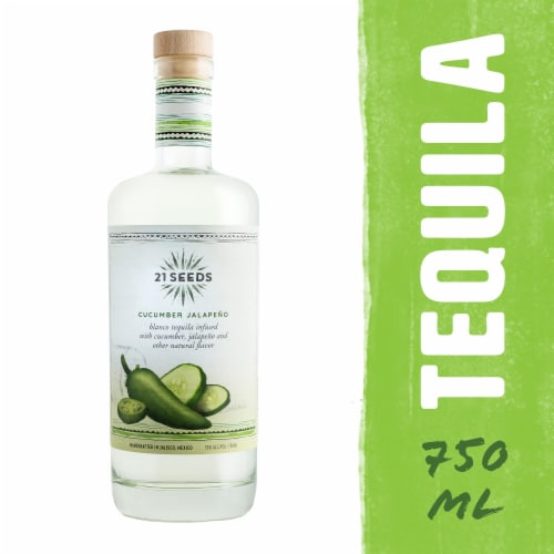 21 SEEDS Cucumber Jalapeno Infused Tequila Perspective: front
