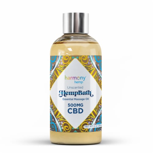 Harmony Hemp Unscented Signature Massage Oil 500 mg AVAILABILITY LIMITED TO PHARMACY HOURS Perspective: front