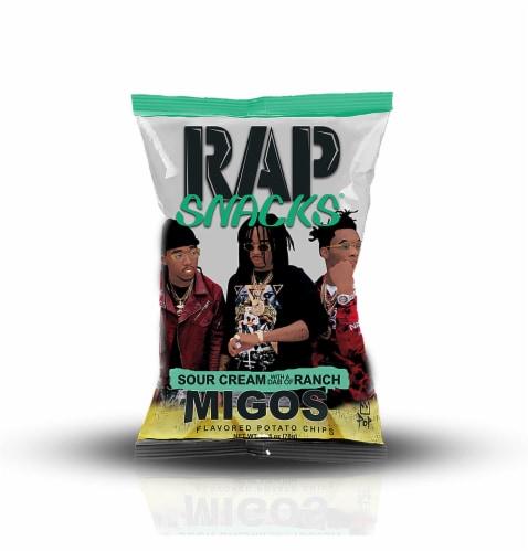 Rap Snacks Migos Sour Cream & Ranch Potato Chips Perspective: front