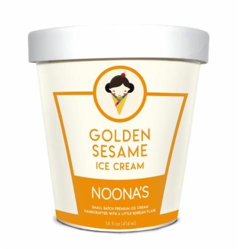 Noona's Golden Sesame Ice Cream - 5 pints Perspective: front