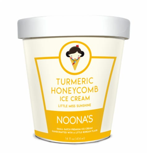 Noona's Turmeric Honeycomb Ice Cream - 5 pints Perspective: front