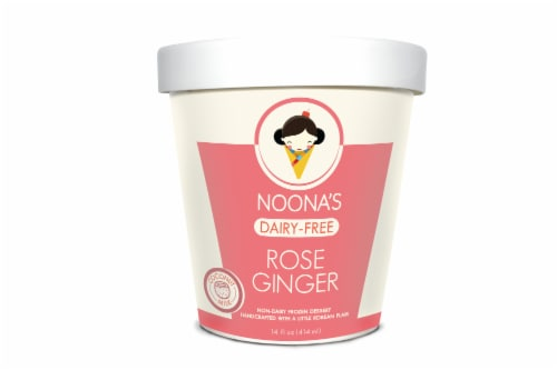 Noona's Vegan Rose Ginger Non-Dairy Frozen Dessert - 5 pints Perspective: front