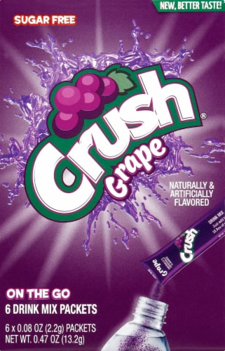 Crush Grape Drink Mix Packets Perspective: front