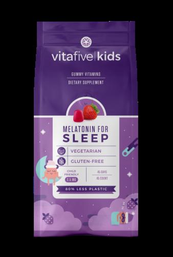 vitafive Kids Melatonin Gummy Vitamins Perspective: front