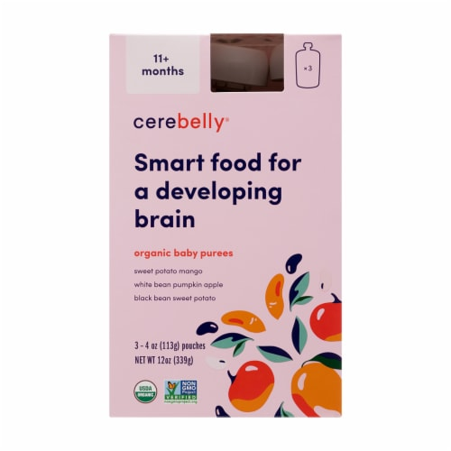 Cerebelly 11+ Months Baby Food Pouch Vareity Pack Perspective: front