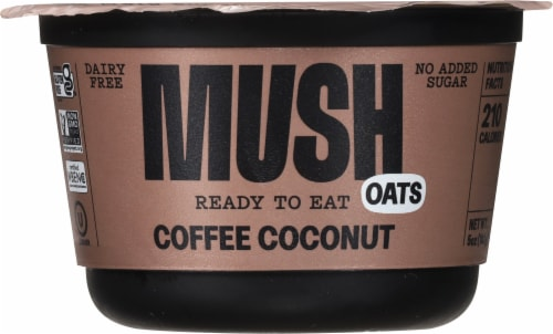 MUSH Coffee Coconut Overnight Oats Perspective: front