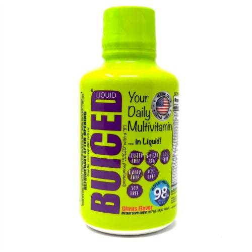 BUICED Citrus Flavored Liquid Multivitamin Perspective: front