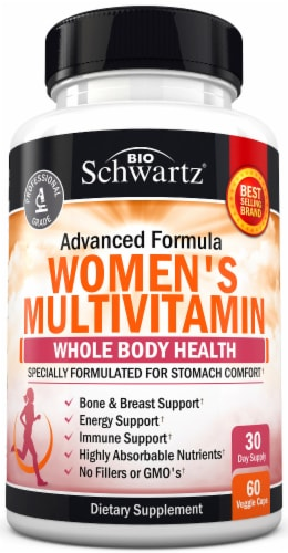 BioSchwartz Women's Whole Body Health Multivitamin Capsules Perspective: front