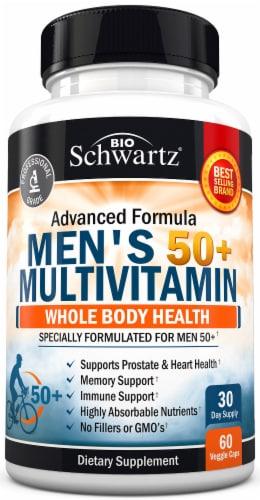BioSchwartz Men's 50 plus Multivitamin Capsules Perspective: front
