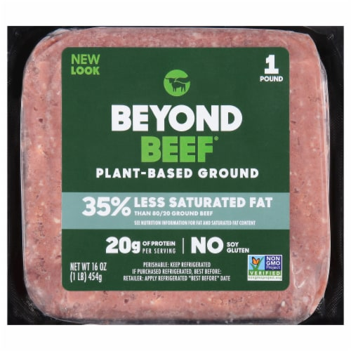 Beyond Meat Plant-Based Ground Beyond Beef Perspective: front