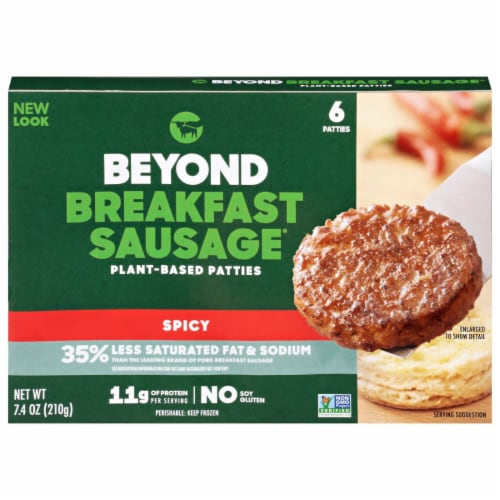 Beyond Meat® Beyond® Breakfast Sausage™ Spicy Plant-Based Patties Perspective: front