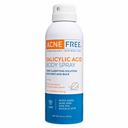 AcneFree Salicylic Acid Body Spray Perspective: front