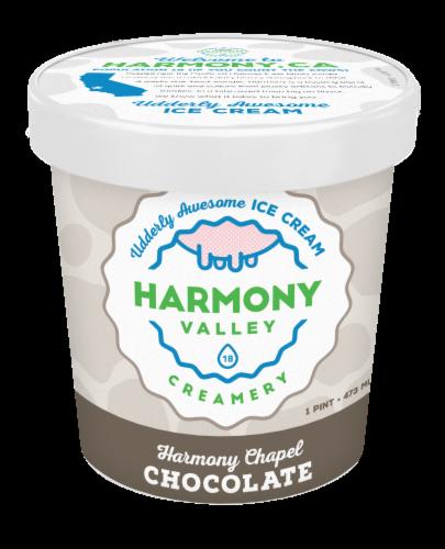 Harmony Valley Creamery Harmony Chapel Chocolate Ice Cream Perspective: front