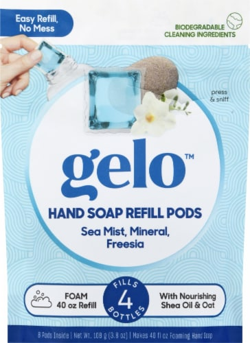 Gelo Sea Mist Mineral & Freesia Foaming Hand Soap Refill Pods Perspective: front