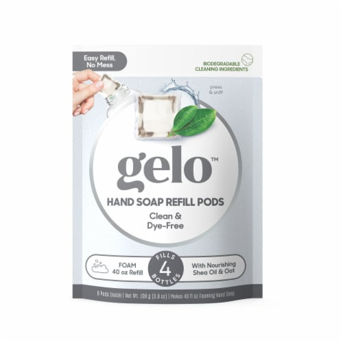 Gelo Clean & Dye-free Foaming Hand Soap Refill Pods Perspective: front