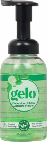 Gelo Cucumber Melon & Jasmine Flower Foaming Hand Soap Perspective: front