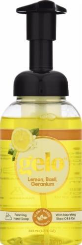 Gelo Lemon Basil & Geranium Foaming Hand Soap Perspective: front
