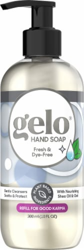 Gelo Clean & Dye-Free Liquid Gel Hand Soap Perspective: front