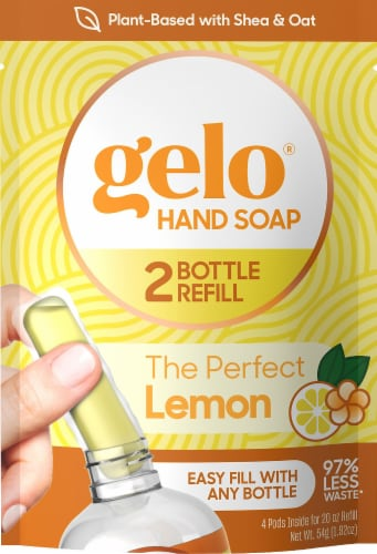 Gelo The Perfect Lemon Hand Soap Refill Pods Perspective: front