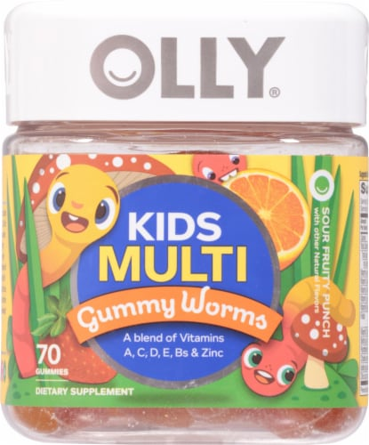 OLLY Kids Multi Gummy Worms Perspective: front